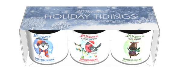 McSteven's Holiday Tidings Cocoa Gift Set (Three 3oz Round Tins)