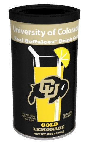 College Colors Lemonade 8 oz. round - University of Colorado Colorful Gold Lemonade