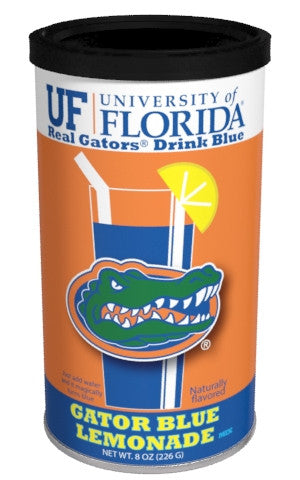 College Colors Lemonade 8 oz. round - University of Florida Colorful Blue Lemonade
