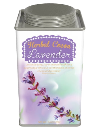 Square Tin Drink Cocoa - McStevens Herbal Lavender and Chocolate - 6.25 oz