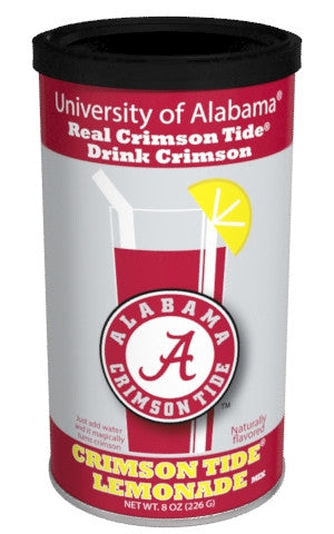College Colors Lemonade 8 oz. round - University of Alabama Colorful Red Lemonade