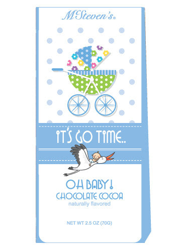 McSteven's Oh Baby It's Go Time Chocolate Cocoa (2.5oz Tent Box) (CLOSEOUT - BEST BY DEC 2021)