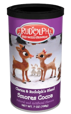 Rudolph & Clarice Smores Hot Cocoa Mix (7oz Round Tin)