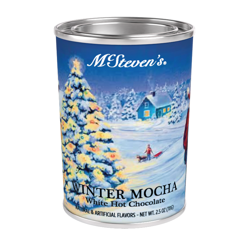 McSteven's Winter Mocha White Hot Chocolate (2.5oz Oval Tin) (CLOSEOUT - BEST BY OCT 2020)