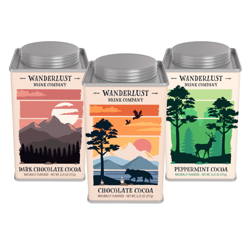 Wanderlust Cocoa Set (Three 6.25oz Square Tins)