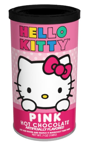 Hello Kitty®  Colorful Pink Hot Chocolate (6.25 oz Round Tin) (CLOSEOUT - BEST BY SEPT 2020)