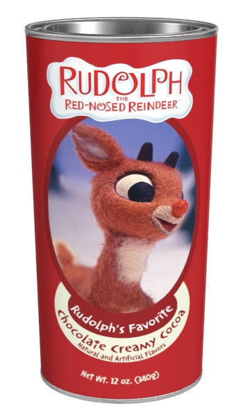 Large Oval Tin Drink Cocoa - Rudolph The Red-Nosed Reindeer© Rudolph's Favorite Cocoa Chocolate - 12 oz
