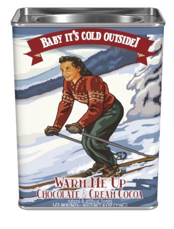 "McSteven's Nostalgia Gourmet ""Baby It's Cold Outside"" Chocolate and Cream Cocoa (8oz Rectangle Tin)"