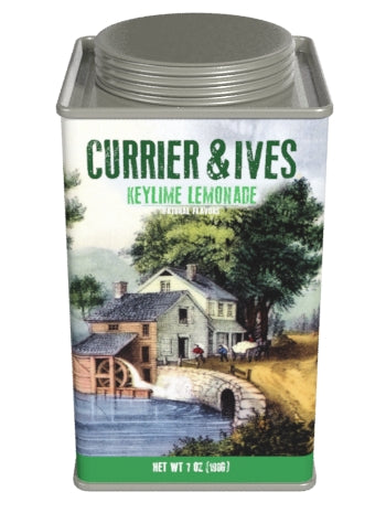 Square Tin Lemonade - Currier & Ives Art Key Lime - 7 oz