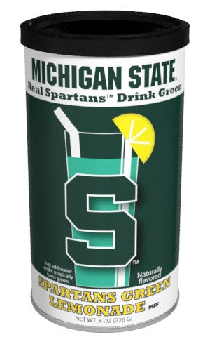 College Colors Lemonade 8 oz. round - Michigan State University Colorful Green Lemonade