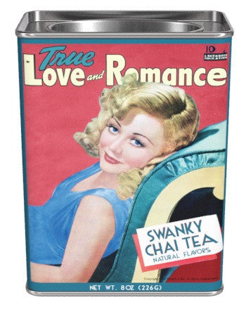 Rectangular Tin Oval Plug TR Chai Tea  - True Romance Swanky Chai - 8 oz