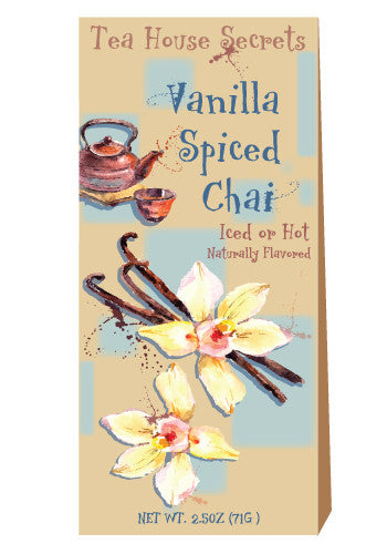 Triangle Gift Box Chai Tea - McSteven's Tea House Secrets Vanilla Spiced - 2.5 oz