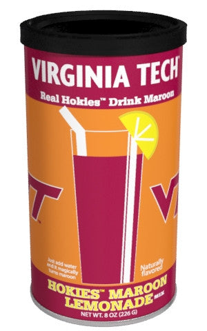 College Colors Lemonade 8 oz. round - Virginia Tech Colorful Maroon Lemonade