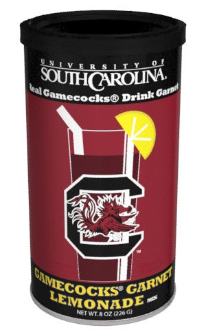 College Colors Lemonade 8 oz. round - University of South Carolina Colorful Garnet Lemonade