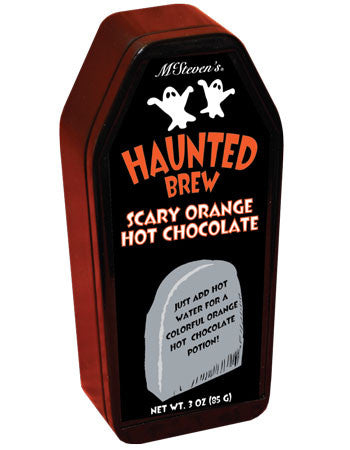 Coffin Tin Colorful Hot Chocolate - McSteven's Haunted Brew Scary Orange Hot Chocolate - 3 oz
