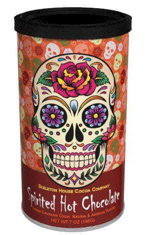 "McSteven's Day of The Dead ""Spirited"" Chocolate Cocoa (7oz Round Tin) (CLOSEOUT - BEST BY JULY 2020)"