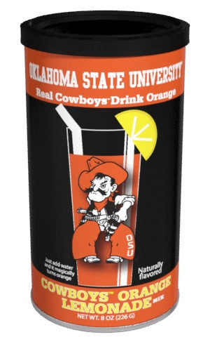 College Colors Lemonade 8 oz. round - Oklahoma State University Colorful Orange Lemonade