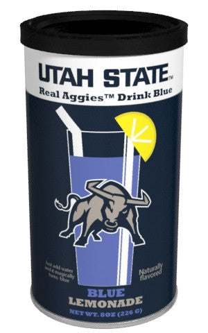 College Colors Lemonade 8 oz. round - Utah State Colorful Blue Lemonade