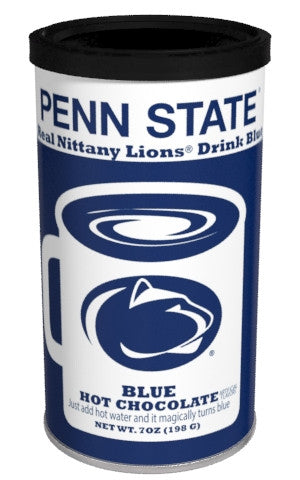 College Colors Hot Chocolate 7 oz. round - Penn State Colorful Blue Hot Chocolate