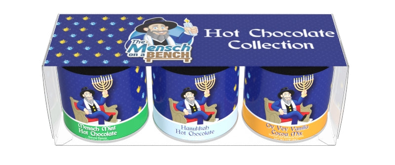 Mensch On a Bench® Cocoa Gift Set (Three 3oz Round Tins)