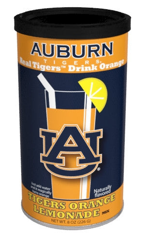 College Colors Lemonade 8 oz. round - Auburn University Colorful Orange Lemonade