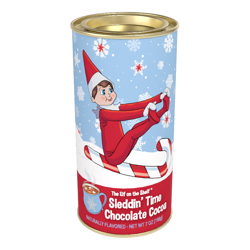 Elf on the Shelf Sleddin' Time Chocolate Cocoa (7 oz Round Tin)