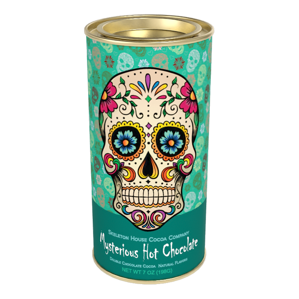 "McSteven's Day of The Dead ""Mysterious"" Chocolate Cocoa (7oz Round Tin)"