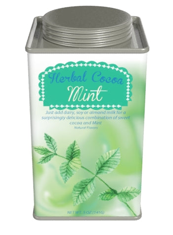 Square Tin Drink Cocoa - McStevens Herbal Peppermint and Chocolate - 6.25 oz