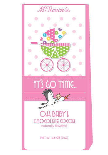 Triangle Gift Box Cocoa - McSteven's Oh Baby It's A Girl - 2.5 oz