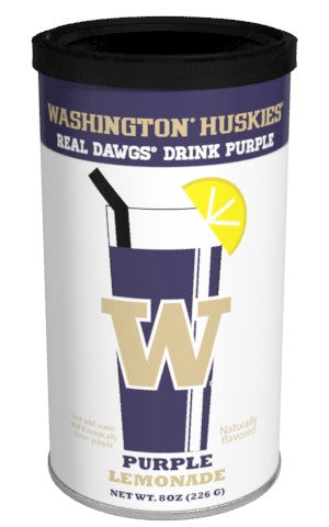 College Colors Lemonade 8 oz. round - University of Washington Colorful Purple Lemonade