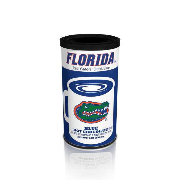College Colors Hot Chocolate 7 oz. round - University of Florida Colorful Blue Hot Chocolate (CLOSEOUT - BEST BY MARCH 2021)