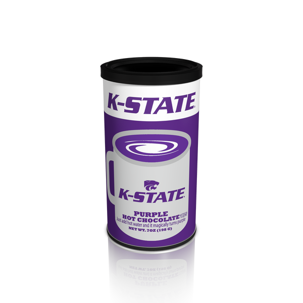 College Colors Hot Chocolate 7 oz. round - Kansas State Colorful Purple Hot Chocolate (CLOSEOUT - BEST BY NOV 2020)