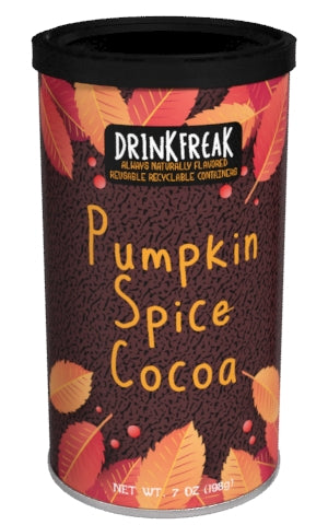 Round Canister DF Cocoa - Drink Freak Harvest Pumpkin Cocoa - 7 oz