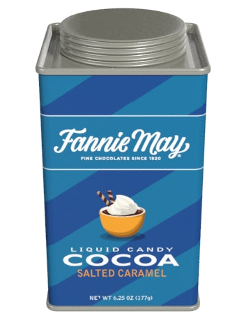 Square Tin Drink Cocoa - Fannie May© Liquid Candy Salted Caramel - 6.25 oz