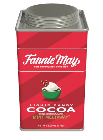 Square Tin Drink Cocoa - Fannie May© Liquid Candy Mint Meltaway - 6.25 oz