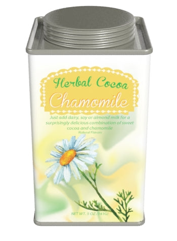 Square Tin Drink Cocoa - McStevens Herbal Chamomile and Chocolate - 6.25 oz