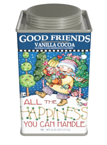 Square Tin Drink Cocoa - Mary Engelbreit® Good Friends Holiday Vanilla - 6.25 oz