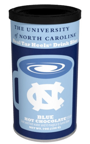 College Colors Hot Chocolate 7 oz. round - University of North Carolina Colorful Blue Hot Chocolate