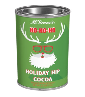 Small Oval Tin Drink Cocoa - McStevens® Holiday Hip Chocolate - 2.5 oz