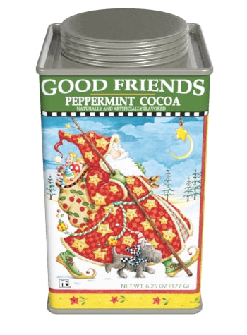 Square Tin Drink Cocoa - Mary Engelbreit® Good Friends Holiday Peppermint - 6.25 oz