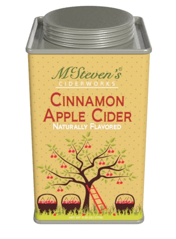 Square Tin Drink Cider - McStevens® Ciderworks Cinnamon Apple - 6.25 oz