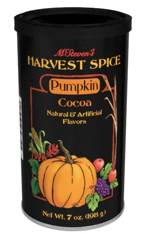 McSteven's Harvest Spice Pumpkin Cocoa (7oz Round Tin) (CLOSEOUT - BB APRIL 2021)