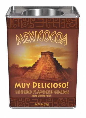 Rectangular Tin Oval Plug Cocoa - McStevens® Mexicocoa Mexican Spiced Chocolate -8 oz