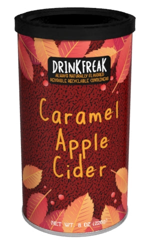 Round Canister DF Cider - Drink Freak Harvest Caramel Apple Cider - 7 oz