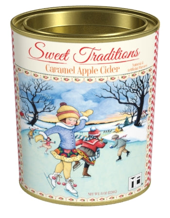 Oval Tin Drink Cider - Mary Engelbreit® Sweet Traditions Caramel Apple Cider - 8 oz