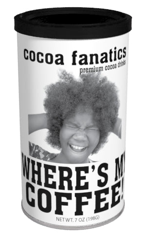 Cocoa Fanatics Coffee Cocoa (7oz Round Tin) (CLOSEOUT - BEST BY JAN 2021)
