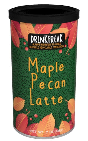 Round Canister DF Cappuccino - Drink Freak Harvest Maple Pecan Latte - 7 oz