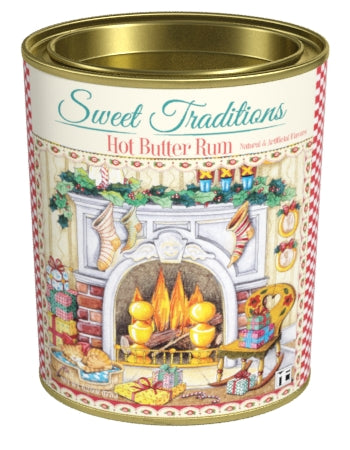 Oval Tin Drink Cocoa- Mary Engelbreit® Sweet Traditions Hot Butter Rum - 6.25 oz