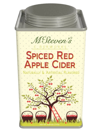 Square Tin Drink Cider - McStevens® Ciderworks Red Apple Cider - 6.25 oz