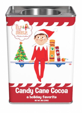Rectangular Tin Round Plug Cocoa - The Elf On The Shelf® Candy Cane - 8 oz